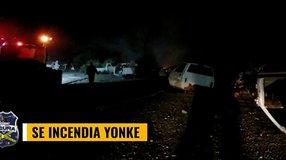 Se incendia Yonke