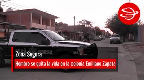 Hombre se quita la vida en la colonia Emiliano Zapata