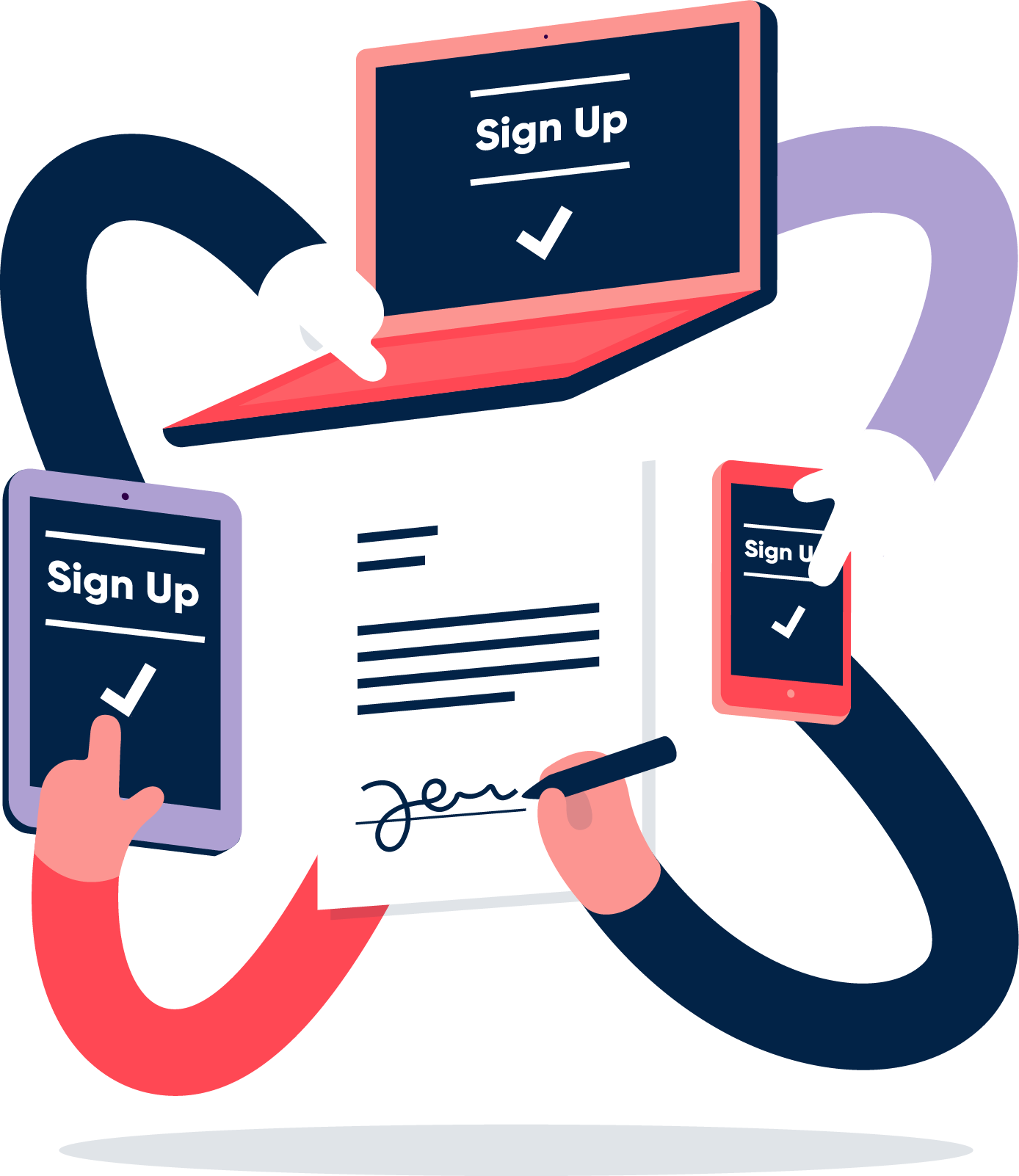 Sign up illustration