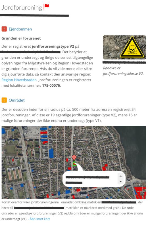Jordforurening på DinGeo opslag