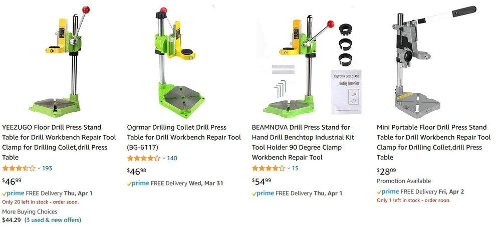 Drill Press Frames