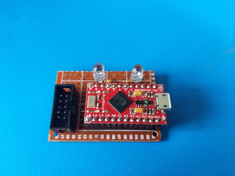 Perfboard prototype with SparkFun Pro Micro