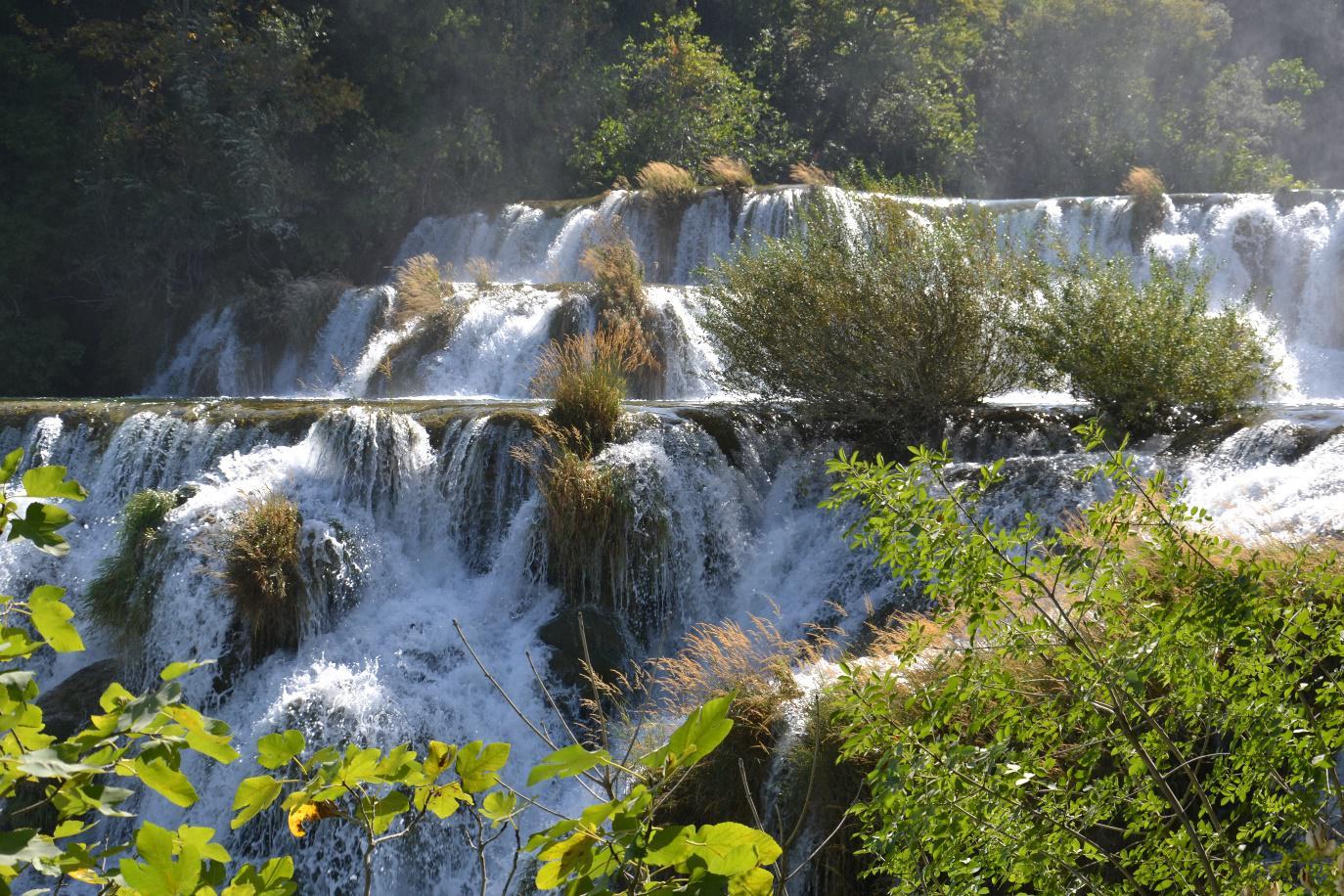 Bezoek aan het nationaal park te Krka, Kroatië