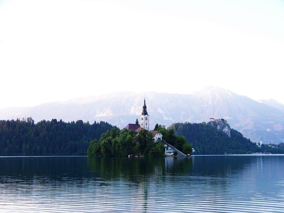 Bled aan het Bled-meer in Slovenië