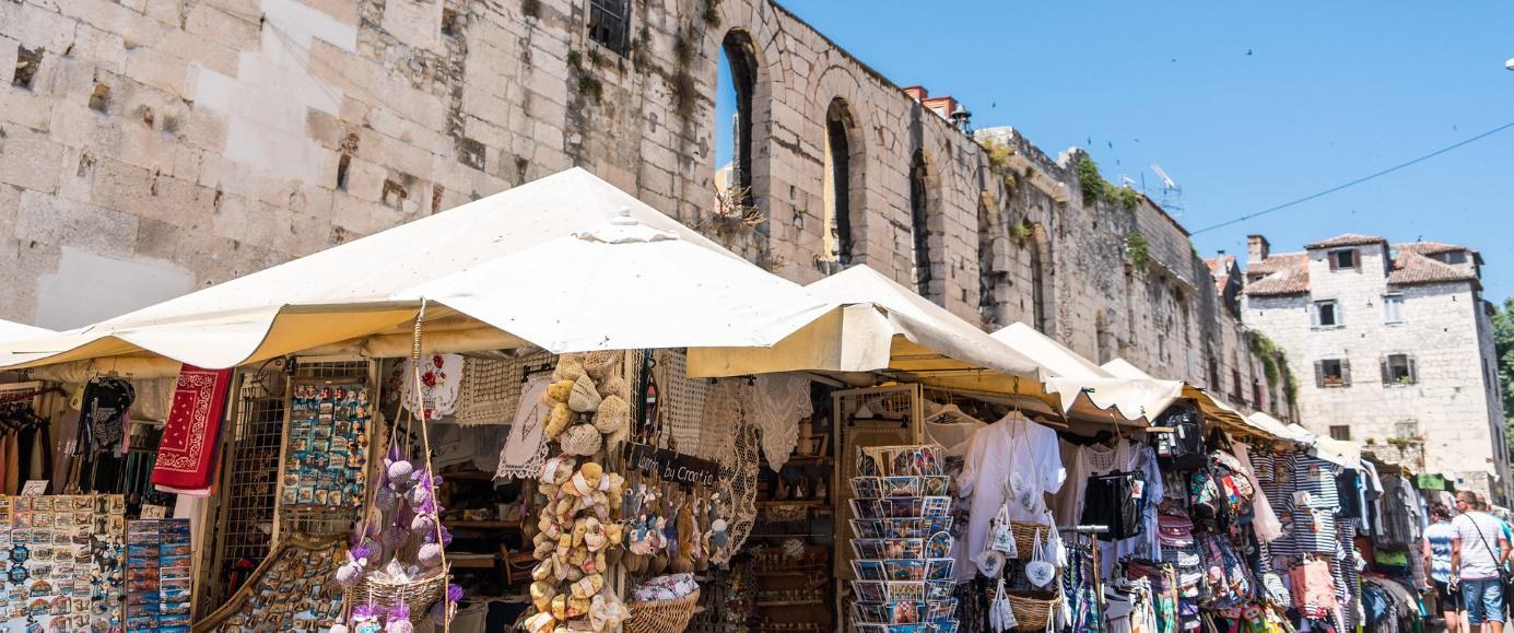 Souvenirmarktje Sibenick