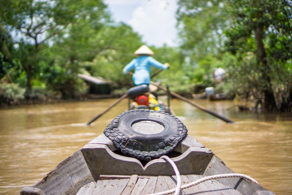 Laat je varen door de prachtige Mekong Delta