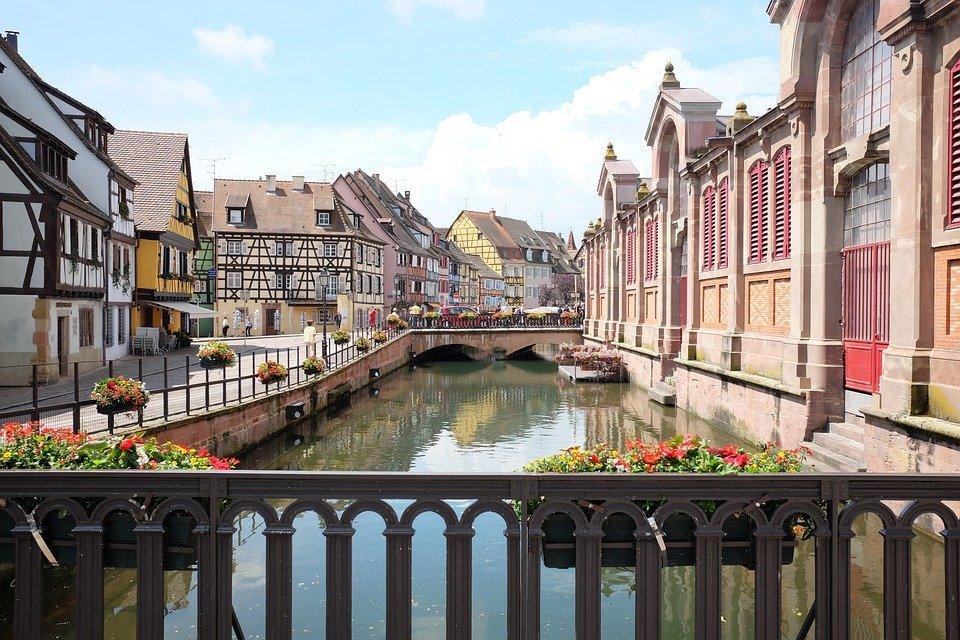 Colmar, pittoresk dorp in Frankrijk
