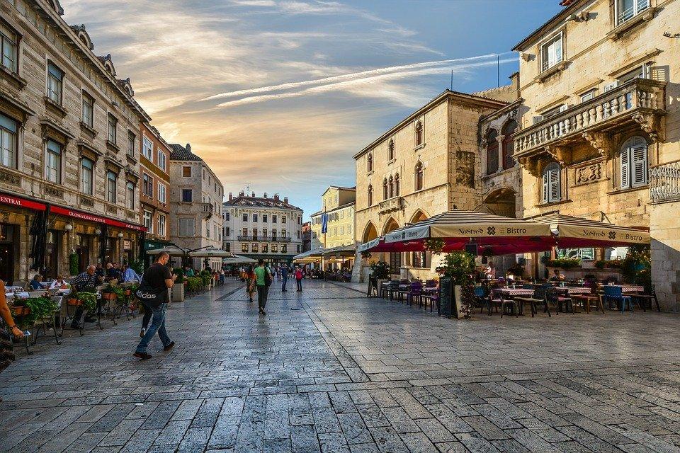 Het centrum van Split - Kroatië