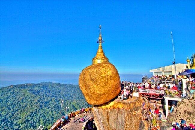 Golden Rock temple Myanmar