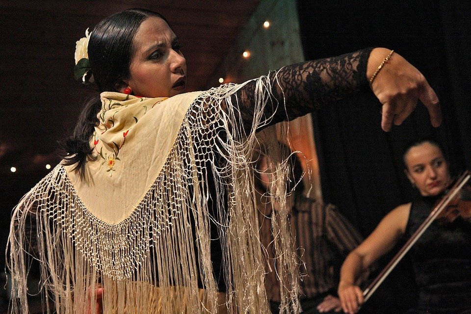 Flamenco dans in Jerez de la Frontera, Andalusië
