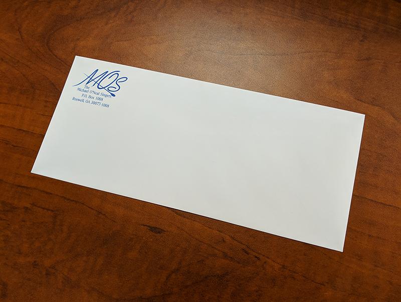 One-color Printed #10 Envelope