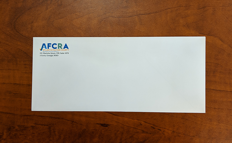 Full-color Printed #10 Envelope