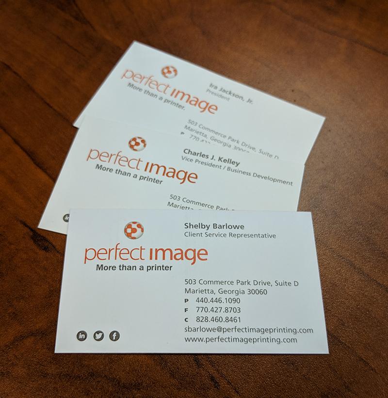 Printed PI Business Cards