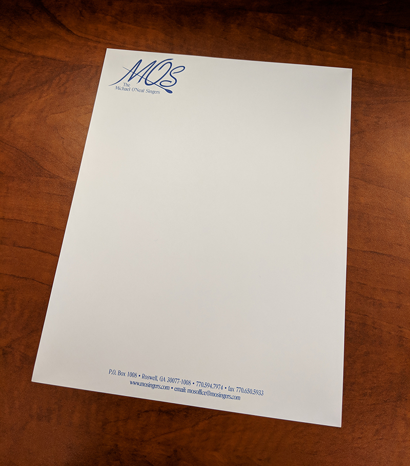 One-color Printed Letterhead
