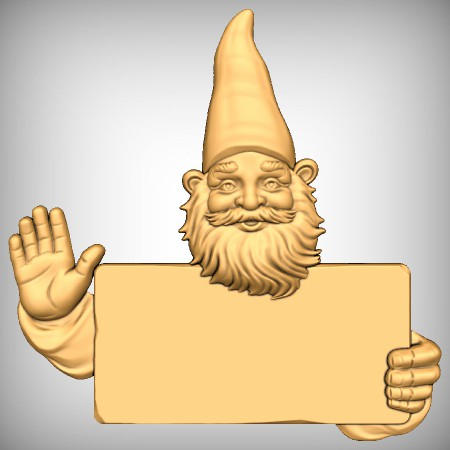 Waving Gnome Sign