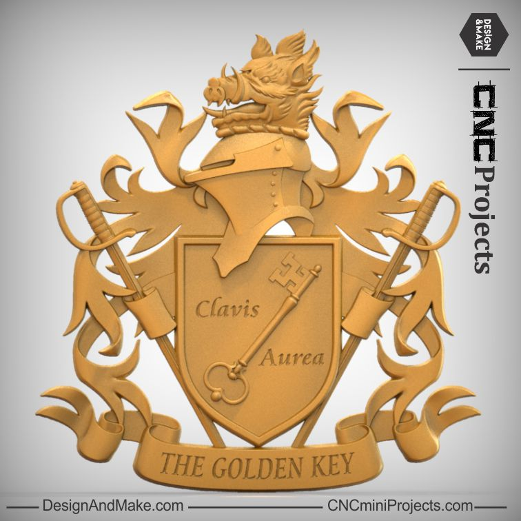 Golden Key Coat Of Arms
