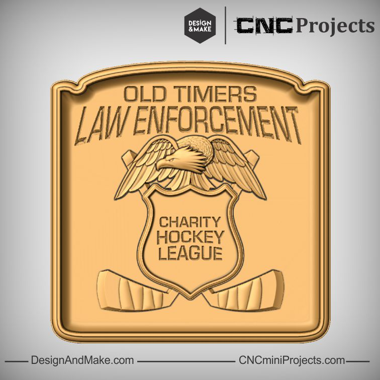 Old Timers Law Enforcement Charity Hockey League plaque