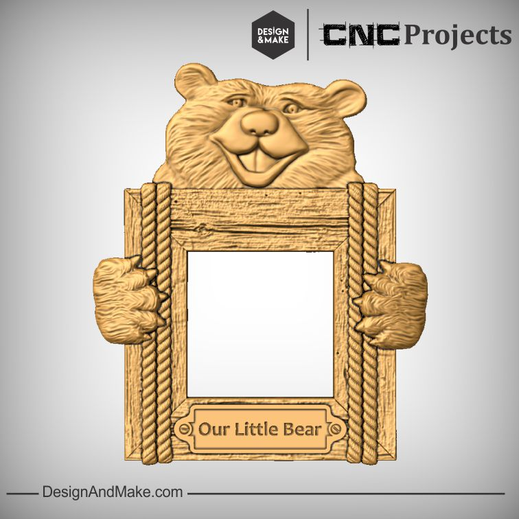 Rustic Bear Picture Frame