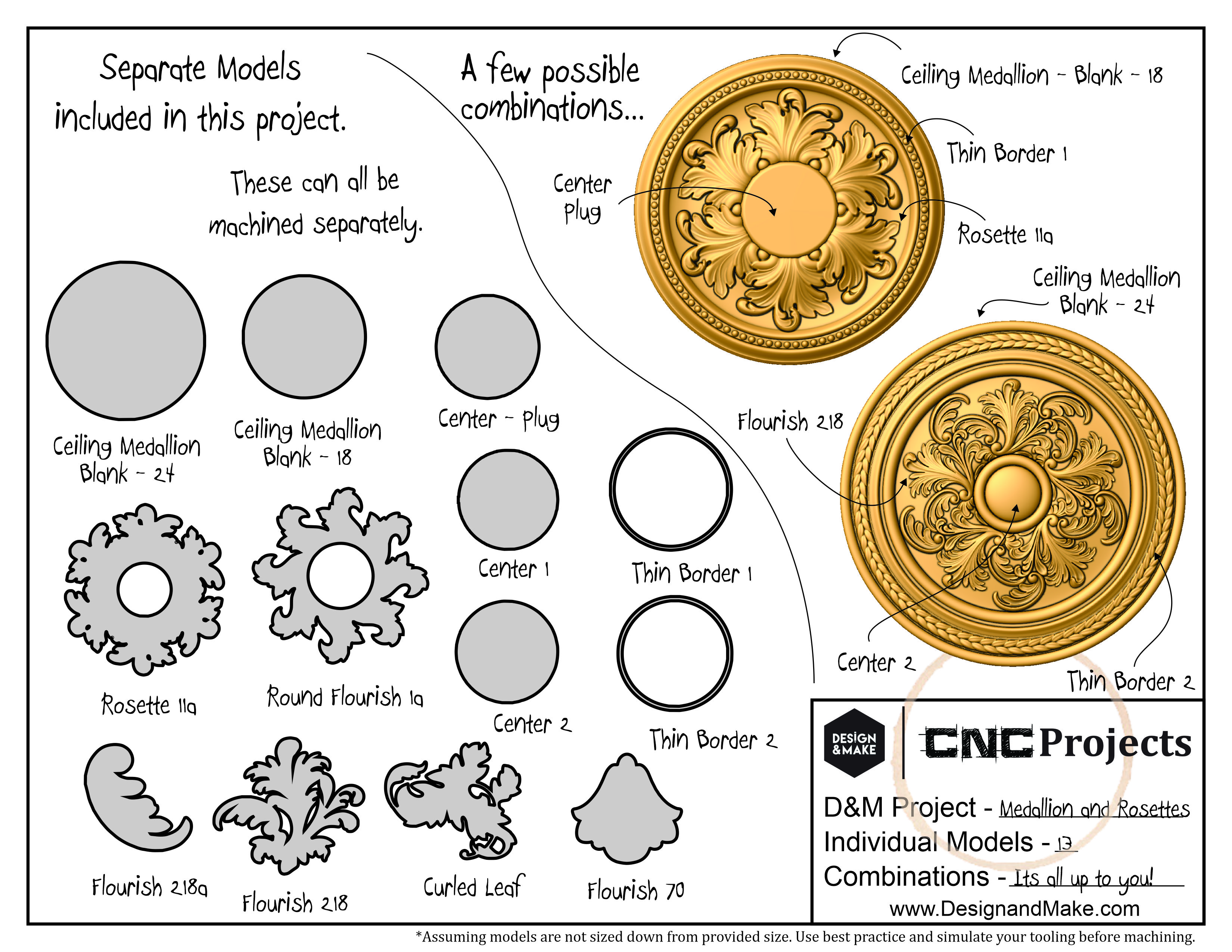 Architectural Elements - Medallions and Rosettes - Project Sheet
