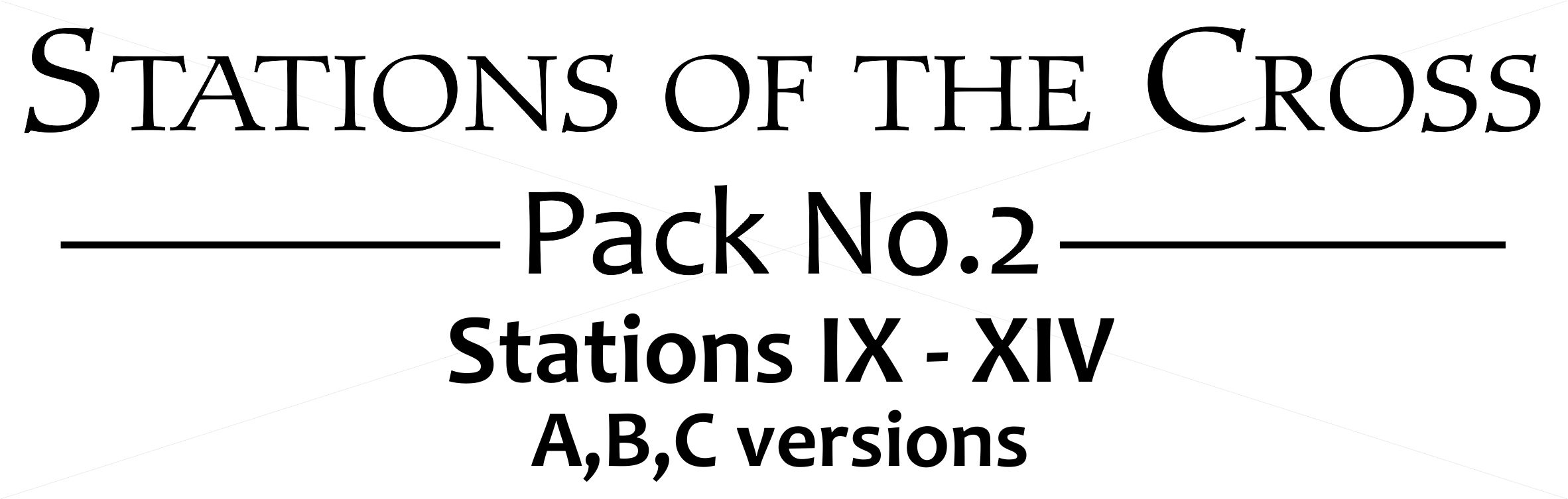 Signs of The Cross - Pack 2 - Banner - V2a