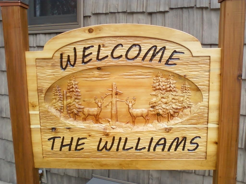 The Williams Deer Wood Sign