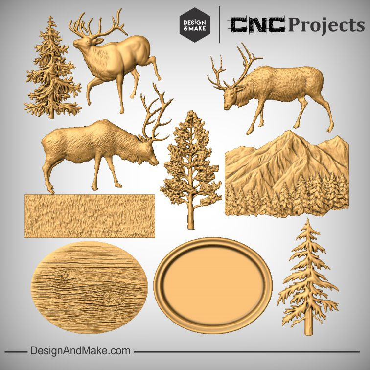 Elk Scene - All Models