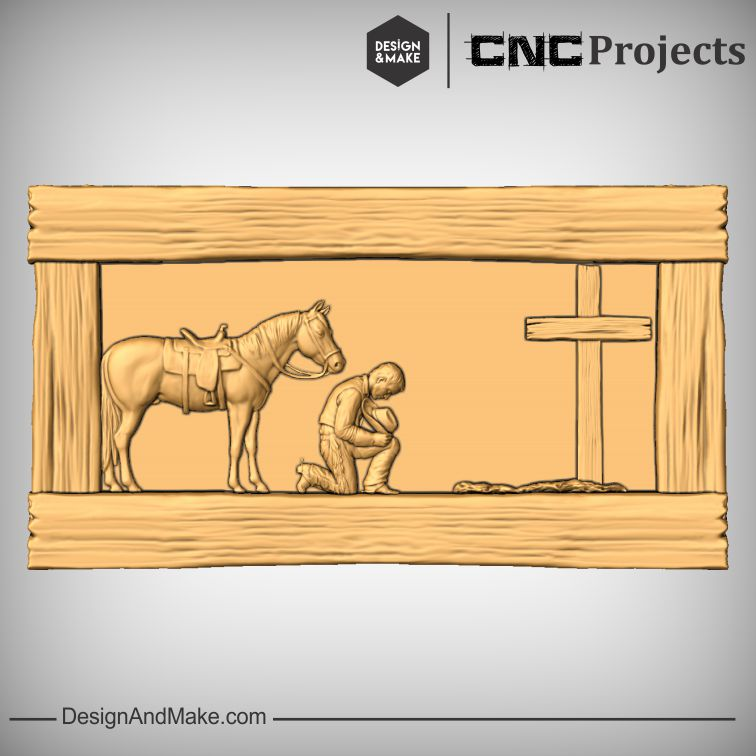 Praying Cowboy and Cowgirl - AssembledLayout