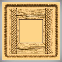 Wood Frame with Ropes