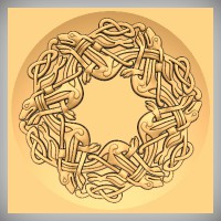 Round Celtic Hounds Weave