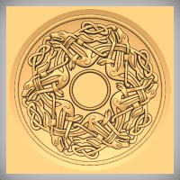 Round Celtic Hounds Weave and Background