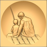 Gone Fishing - Father and Son