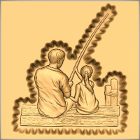 Gone Fishing - Father and Daughter