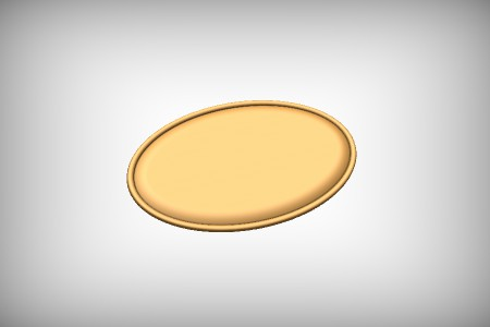 Oval Flat Dome Panel