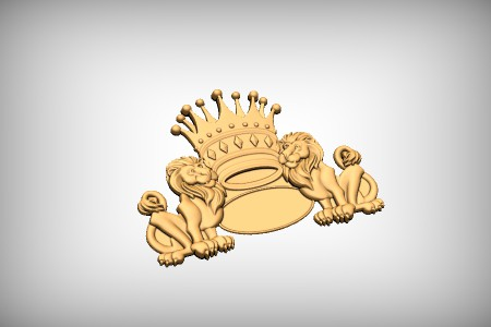 Lion Crown Border