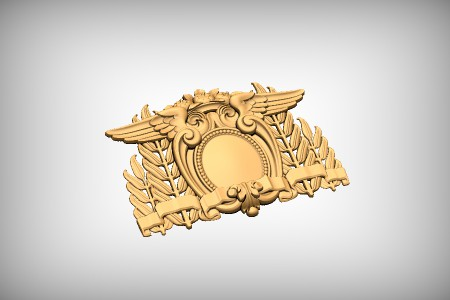 Wing & Leaf Cartouche