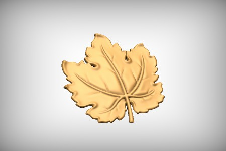 Stylized Grape Leaf