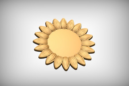 Stylized Sunflower 2C