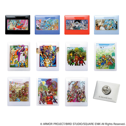「ドラクエ」の歴代パッケージがちっちゃくなった「ピンズコレクション」予約受付中