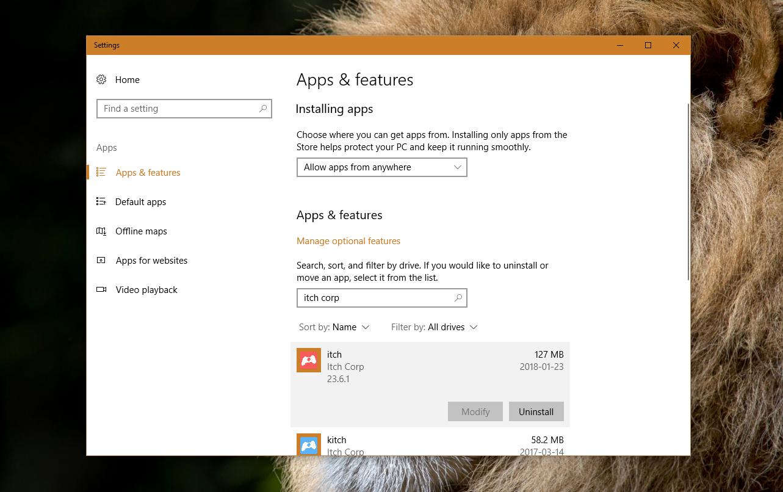 Installing on Windows · The itch io app book - itch io