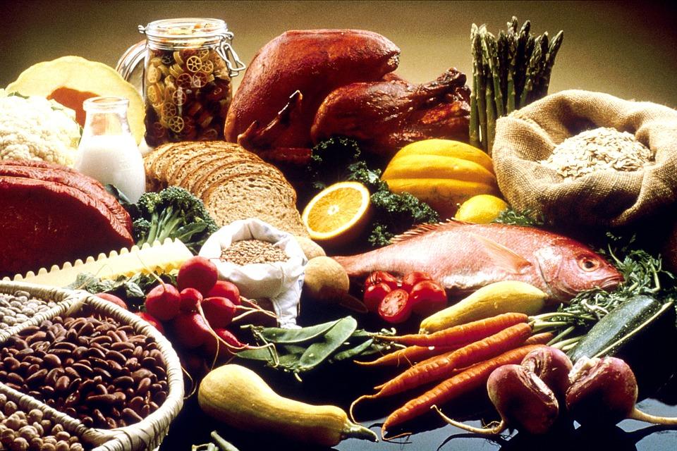 Différents aliments utilisés en alimentation de naturopathie