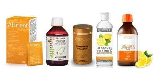 vitamine c liposomale, avis sur différentes marques