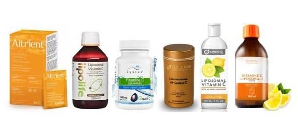 différentes vitamine c liposomale