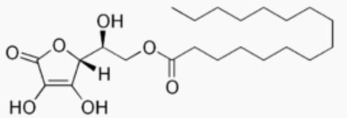 Molécule de palmitate d'ascorbyle: bienfait, danger et posologie de ce composé chimique.