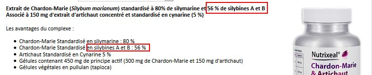 chardon marie Nutrixeal