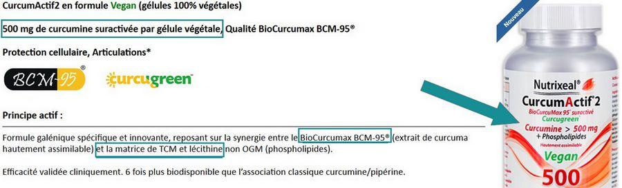 Analyse du curcuma Nutrixeal