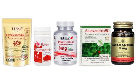 Avis sur astaxanthine différents produits