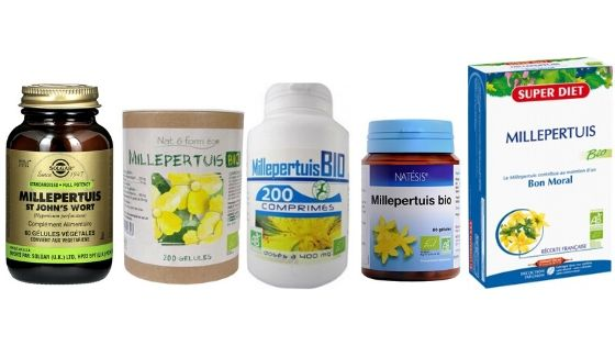 Différents Millepertuis, produits analysés et testés