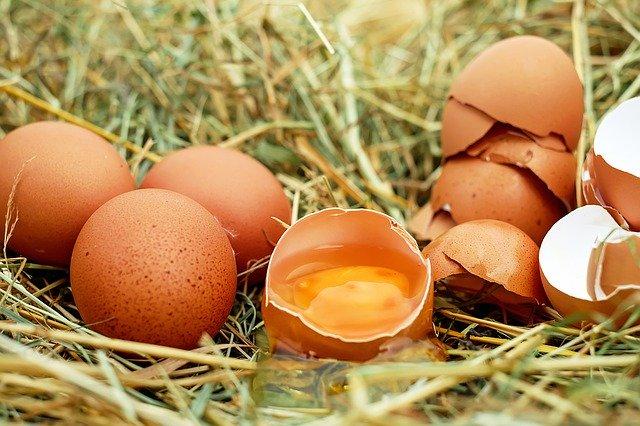 Dans l'alimentation, l'arginine est présente en abondance dans les œufs.