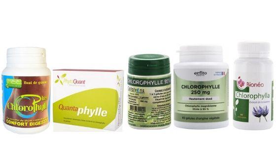 différents produits testés à base de chlorophylle avis
