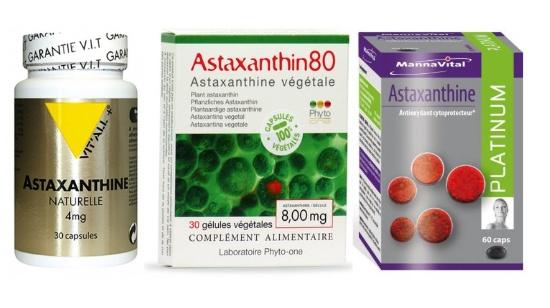 Les différentes Astaxanthine, analysées par la rédaction.